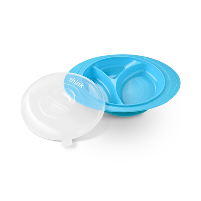 ThinkSaucer Suction Plate - Lt. Blue