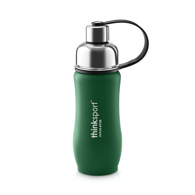 Thinksport Insulated Sports Bottle - 12oz (350ml) - Powder Coated - Green