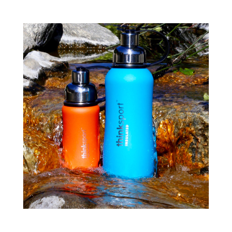 Thinksport Insulated Sports Bottle - 17oz (500ml) - Powder Coated - Lt. Blue