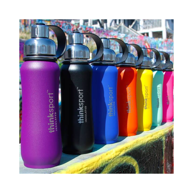 Thinksport Insulated Sports Bottle - 12oz (350ml) - Powder Coated - Blue