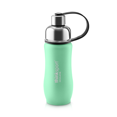Thinksport Insulated Sports Bottle - 12oz (350ml) - Powder Coated - Mint Green