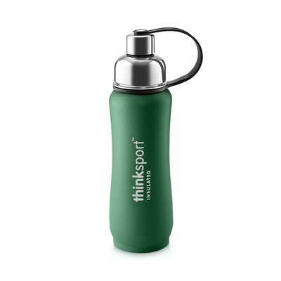 Thinksport Insulated Sports Bottle - 17oz (500ml) - Powder Coated - Green