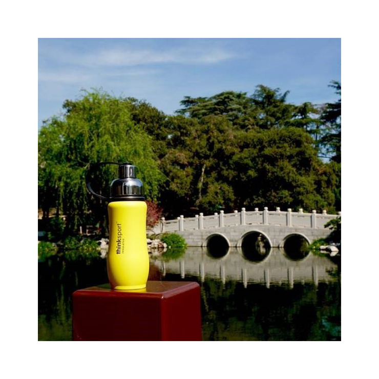 Thinksport Insulated Sports Bottle - 12oz (350ml) - Powder Coated - Yellow
