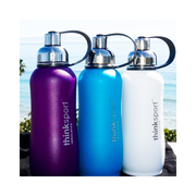 Thinksport Insulated Sports Bottle - 25oz (750ml) - Powder Coated - Lt. Blue