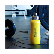 Thinksport Insulated Sports Bottle - 25oz (750ml) - Powder Coated - Yellow