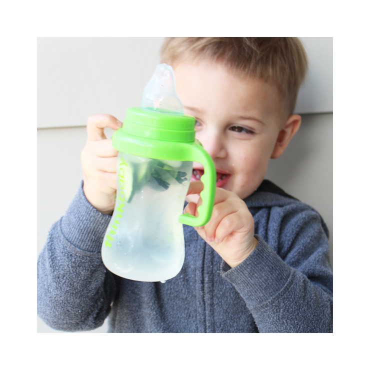 Converts Baby Bottle to Sippy Cup - Lt. Green