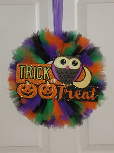 Halloween Trick Or Treat Wreath