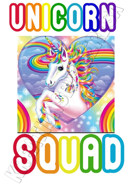 Rainbow Unicorn Squad Printable Iron On Transfer