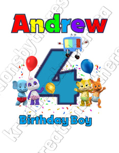Word Party Inspired Birthday Boy Printable Iron On Transfer