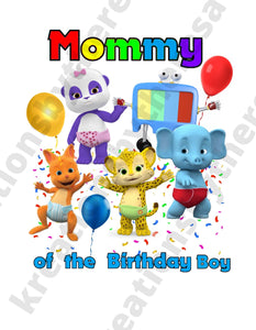 Word Party Inspired Mommy Of The Birthday Boy Printable Iron On Transfer