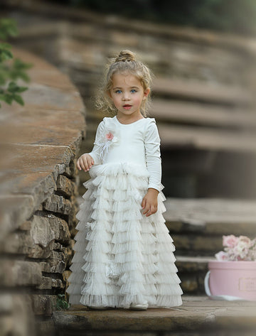 Walk In The Park Frock (Ivory)
