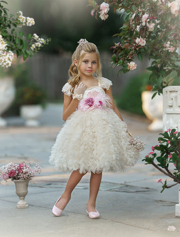 Happily Ever After Dress (Light Cream) (Short)