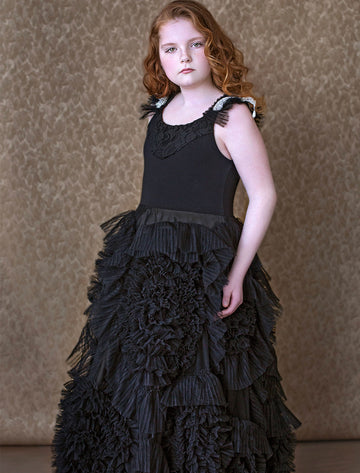 Best Wishes Frock (Girls)(Black)