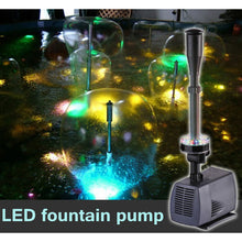 Load image into Gallery viewer, LED flashing light 40W/45W/75W/85W submersible water pump fountain pump fountain maker fish pond garden pool