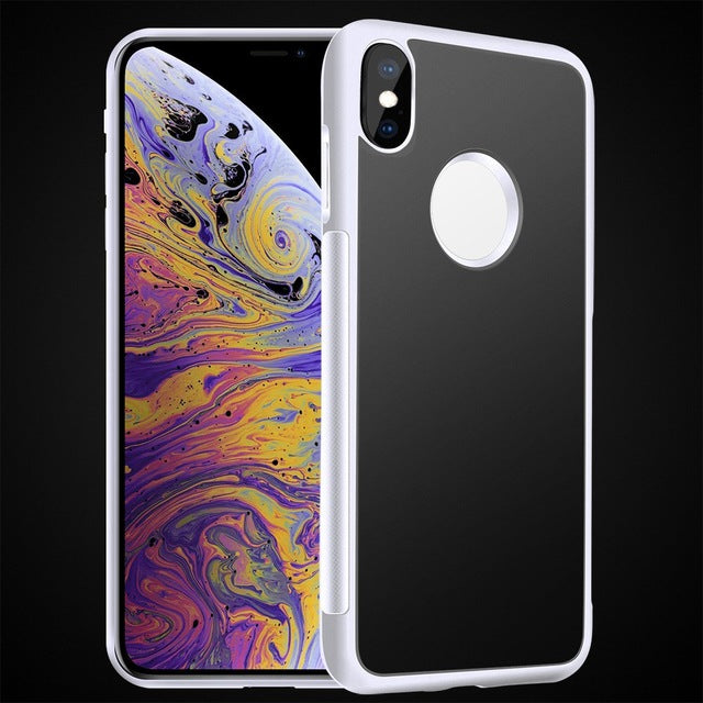 Anti Gravity Phone Case For iPhone X 8 7 6S Plus Antigravity TPU Frame Magical Nano Suction Cover Adsorbed Car Case