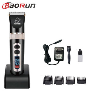 Baorun P9 Clipper Dogs Professional LCD Screen Pet Cat Clippers Electrical Grooming Trimmer Rechargeable Haircut Machine Animal