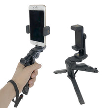Load image into Gallery viewer, Mini Tripod Holder Handheld Stabilizer Phone Clip Mount Extendable Rotatable For Iphone Samsung Huawei Xiaomi yi Action Camera