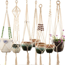 Load image into Gallery viewer, 100% handmade macrame plant hanger flower /pot hanger for wall decoration countyard garden