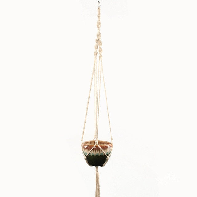 100% handmade macrame plant hanger flower /pot hanger for wall decoration countyard garden