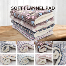 Load image into Gallery viewer, Thickened Pet Soft Fleece Pad Blanket Bed Mat For Puppy Dog Cat Sofa Cushion Home Washable Rug Keep Warm S/M/L/XL/XXL/XXXL