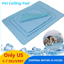 Load image into Gallery viewer, Only US! Summer Dog Cushions For Travel Car Seat Dog Mat Plaid Pet Dogs Colling Pad Dogs Cooling Pet Cushion Beds For Dog