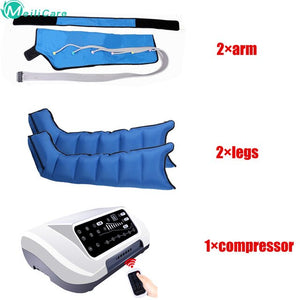 Pressotherapy Air Compression Leg Foot Massager Vibration Infrared Therapy Arm Waist Pneumatic Air wave pressure machine