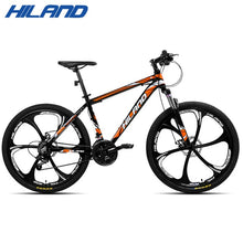 Load image into Gallery viewer, US warehouse HILAND 26 inch 21 Speed Aluminum Alloy Suspension Bike Double Disc Brake Mountain Bike Bicycle with Service