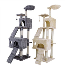 Load image into Gallery viewer, Domestic Delivery Cat Jumping Toy with Ladder Scratching Wood Climbing Tree for Cat Climbing Frame Cat Furniture Scratching Post