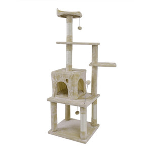 Domestic Delivery Cat Jumping Toy with Ladder Scratching Wood Climbing Tree for Cat Climbing Frame Cat Furniture Scratching Post