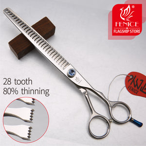 Fenice JP440c 7 inch 8 inch High-end Pet dog Grooming Scissors thinning shears Thinning rate about 80%