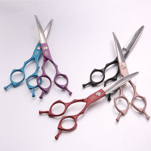 Fenice Professional symetrical handle colorful 6.5 inch pet dog curved animal grooming scissors