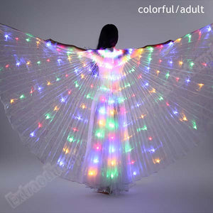 New Wings Sticks Adult Led Isis With Adjustable Belly Dance lamp Props 360 Degrees Accessories Children Open 360 Angle LED Wing