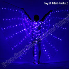 Load image into Gallery viewer, New Wings Sticks Adult Led Isis With Adjustable Belly Dance lamp Props 360 Degrees Accessories Children Open 360 Angle LED Wing