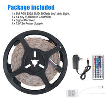 Load image into Gallery viewer, 16.4 Feet Flexible 300 LED Light Strip 3258SMD, Color Changing, Includes 44 Key Remote, Perfect for Home Lighting, Kitchen, Bed, Bar, and Decor