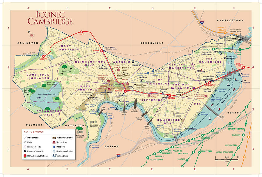 Iconic Cambridge Map