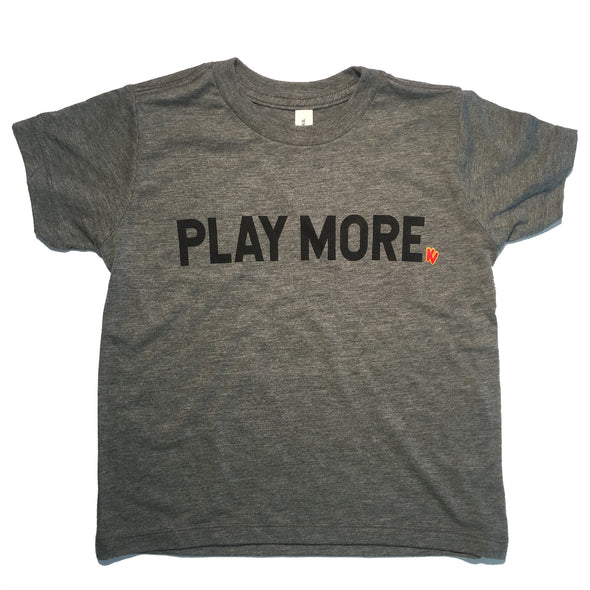 'Play More' Youth Short Sleeve T-Shirt