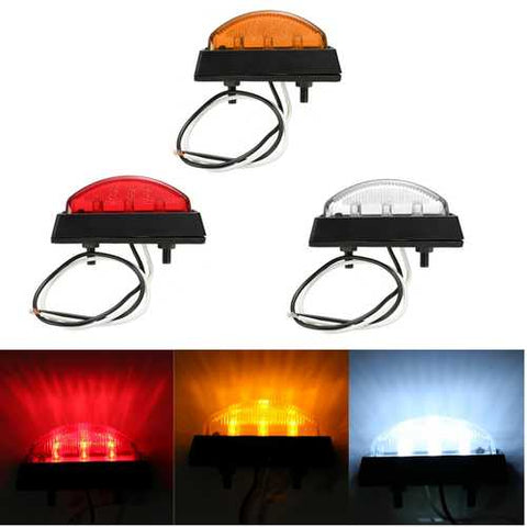 6 LED Side Marker Light Indicator Lamp Bus Truck Trailer Lorry Caravan 12/24V E4