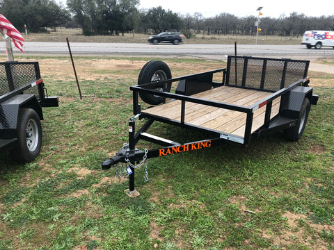 Ranch King Single Axle 5x9 Utility Trailer with bifold -3270