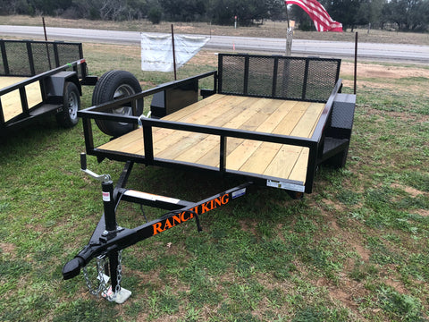 Ranch King 6x12 Single Axle Utility Trailer with bifold- 2576