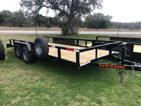 Ranch King 6'10 x 18 Tandem Axle Utility Trailer with ramps- 3369
