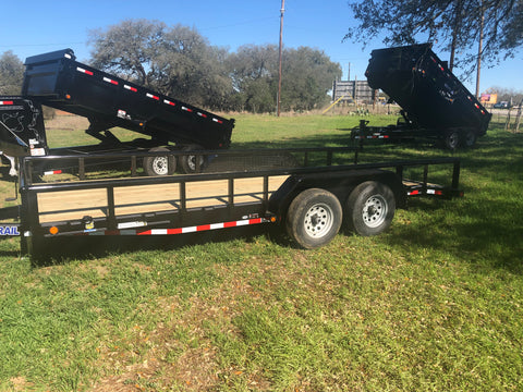 "LoadTrail 83"" x 18' Tandem Carhauler w/Side Rails- 1423"