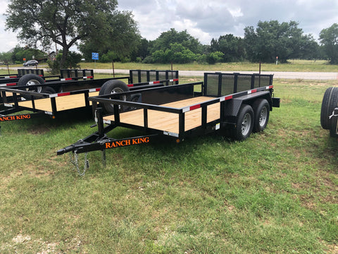 Ranch King 6x12 Double Axle Utility Trailer with bifold- 2171