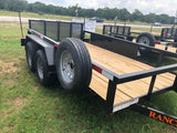 Ranch King 6x12 Double Axle Utility Trailer with bifold- 2177