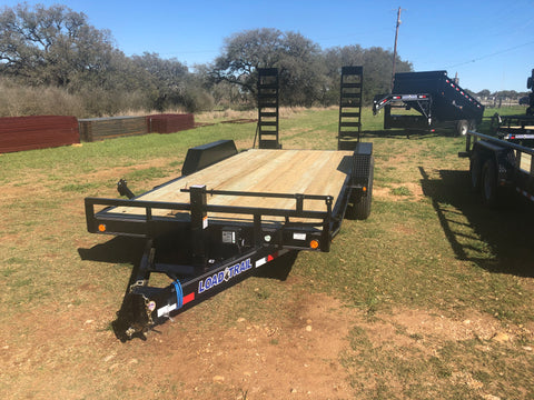 "LoadTrail 83"" x 18' Tandem Carhauler w/Fold Up Ramps- 3242"