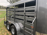 "WW 14 x 5 x 6'6"" Bumper Pull All Around Livestock Trailer- 0616 black"