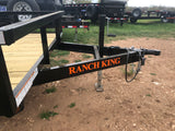 Ranch King 6'10 x 18 Tandem Axle Utility Trailer with slide-in ramps- 0015