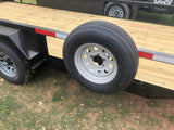 Ranch King 6'10 x 18 Tandem Axle Utility Trailer with fold- up ramps- 0011