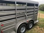 "WW 14 x 5 x 6'2"" Bumper Pull All Around Livestock Trailer- 0176"