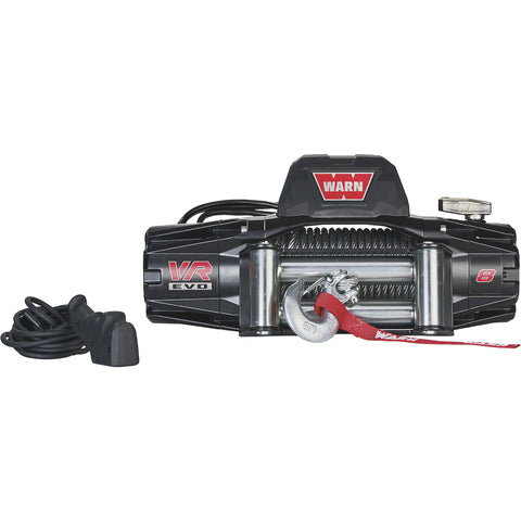 WARN VR EVO 12 Volt DC Powered Winch — 8,000-Lb- VR EVO 8