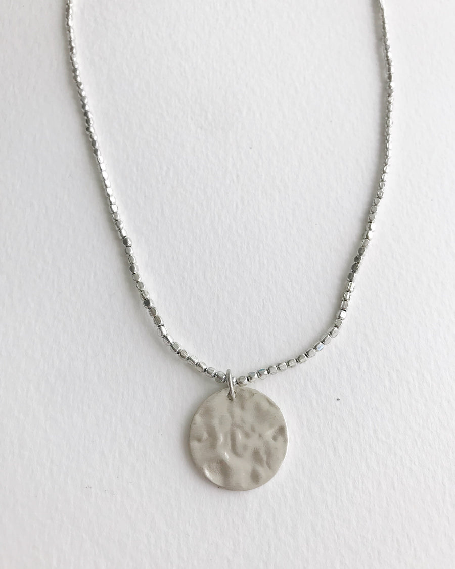Silver Coin Necklace